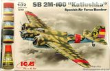 ICMset72161 SB 2M-100 Spanish bomber (самолет)