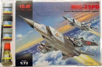 Советский тяжелый истребитель перехватчик МиГ-25 ПД