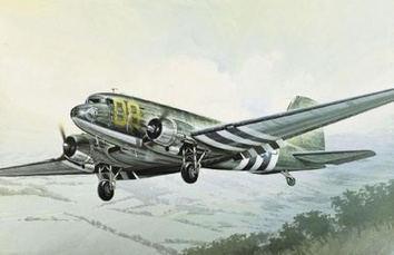 Сборная модель самолета Дуглас Скайтрэйн С-47 (Skytrain)