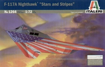 Пластиковая модель самолета Найтхок F-117 (Nighthawk Stars and Stripes)