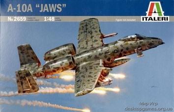 Пластиковая модель самолета A-10A JAWS