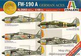 Сборная пластиковая модель самолета FW-190A GERMAN ACES из серии ГЕРМАНСКИЕ АССЫ