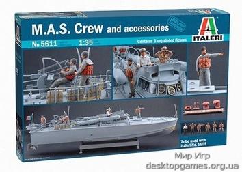 Масштабные фигурки команды торпедного катера M.A.S. с набором деталировки