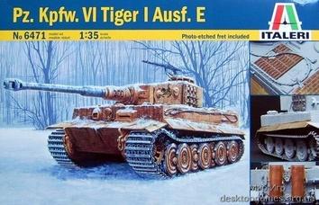 Масштабная модель танка Sd.Kfz. Vi Тигр (Tiger) Ausf. E (с фототравлением)