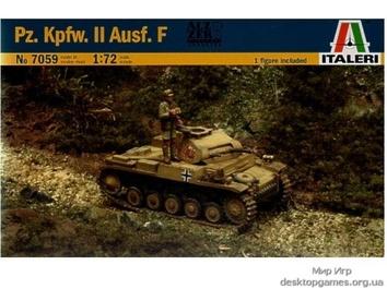 Масштабная модель легкого немецкого танка Panzer II Ausf F