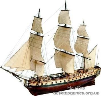 Модель деревянного корабля для склеивания HERMIONE LA FAYETTE