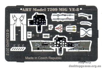 Набор фототравления для МИГ Е-8 от ART Model