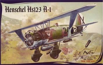 Пластиковая модель самолета Hs123 A-1 - фото 3
