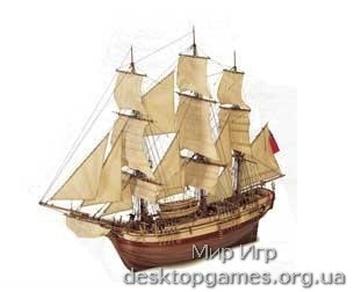 Модель деревянного парусника для склеивания BOUNTY