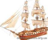 Модель деревянного корабля для склеивания US CONSTELLATION