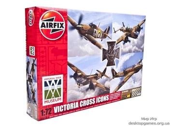 Набор Крест Виктории (4 самолета с краской и  клеем)