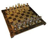 """Шахматы """"Manopoulos"""", """"Греко-римские"""",  латунь, в деревянном футляре"""