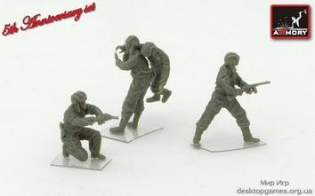 Советские танкисты, ВОВ  (4 фигуры)