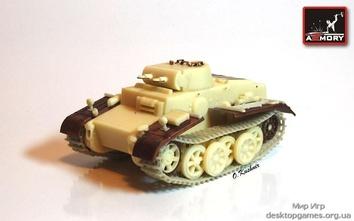 Легкий немецкий танк Pz.Kpfw.I Ausf.F времен Второй мировой войны
