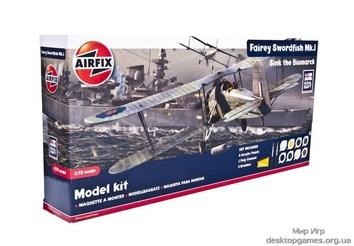 Британский торпедоносец-бомбардировщик Фэйри Сордфиш МкI(набор с красками и клеем)