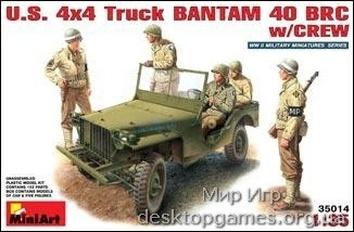 MA35014  U.S. truck BANTAM BRC40 with crew