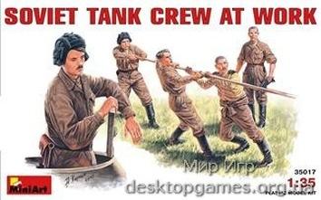MA35017 Soviet tank crew at work