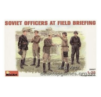 MA35027 Soviet officers at field briefing