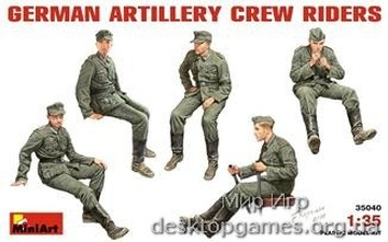 MA35040 German Artillery Crew Riders