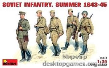 Soviet infantry, summer 1943-1945