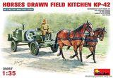 Полевая кухня KP-42 на конной тяге