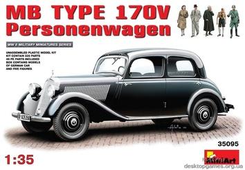 Сборная модель автомобиля MB Type 170V Personenwagen