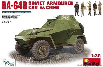 БА-64Б Советский Бронеавтомобиль с экипажем.