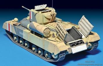 Британский танк Валентайн Мк 1 с командой (c интерьером) - фото 5