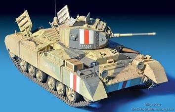 Британский танк Валентайн Мк 1 с командой (c интерьером) - фото 7