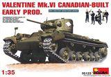 Сборная модель танка  «Валентайн» Mk 6