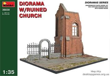 MA36030 Diorama with ruined church