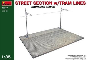 Фрагмент улицы с трамвайными путями
