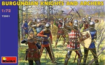 Бургундские рыцари и лучники VX век