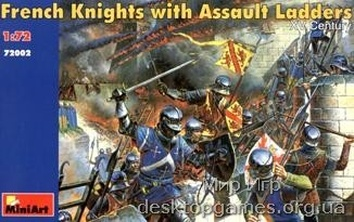 MA72002 French knights with assault ladders XV century