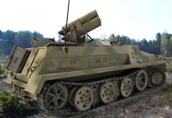 sWS with 15 cm Panzerwerfer 42 (rocket launcher)