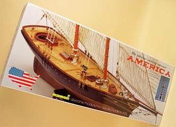 Сборная деревянная яхта Америка (America) - фото 3