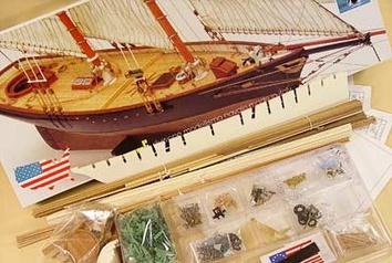 Сборная деревянная яхта Америка (America) - фото 4