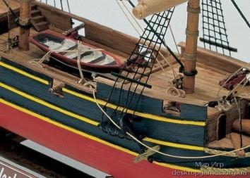 Деревянный корабль Black Queen (Черная королева) - фото 9