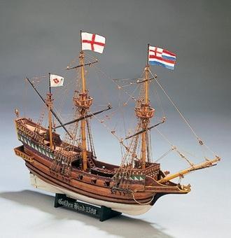 Модель деревянного корабля Голден Хинд мини (Golden Hind mini) - фото 2