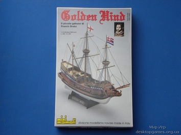 Модель деревянного корабля Голден Хинд мини (Golden Hind mini) - фото 6