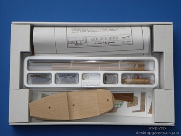 Модель деревянного корабля Голден Хинд мини (Golden Hind mini) - фото 7
