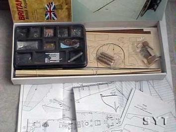 Сборная модель яхты из дерева Британия (Britania mini) - фото 3
