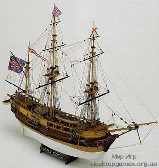 Модель корабля из дерева HMS Beagle (Бигль)