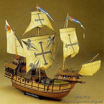 Сборная деревянная модель корабля-каракки Сао Мигуэль Atlantica