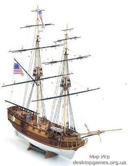 Масштабная модель корабля из дерева Blue Shadow (Голубая Тень)