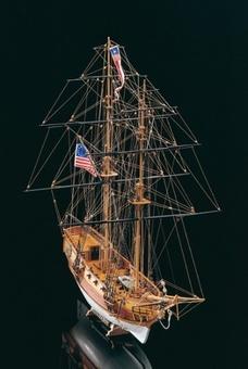 Масштабная модель корабля из дерева Blue Shadow (Голубая Тень) - фото 2