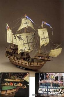 Сборная деревянная модель корабля-каракки Сао Мигуэль Atlantica - фото 12