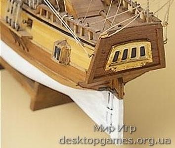 Масштабная модель корабля из дерева Blue Shadow (Голубая Тень) - фото 11