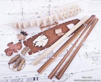 Модель корабля из дерева Марсель (Marseille) - фото 8