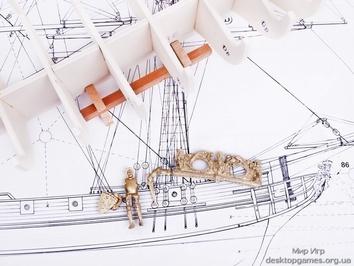 Модель корабля из дерева Марсель (Marseille) - фото 9
